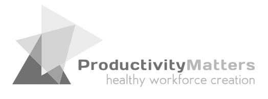 Productivity Matters